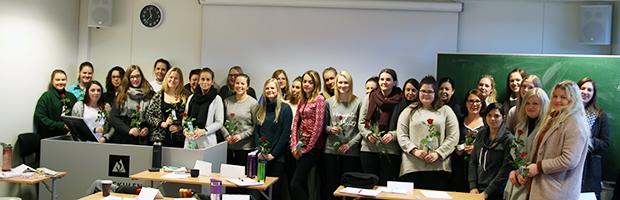 Nye studentar på det nye studiet: BLUFMM. Foto: Per Straume, Høgskulen i Volda.