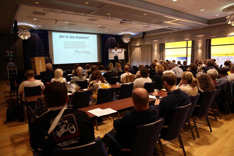 Deltakarar på Fjordkonferansen 2016. Foto: Panorama/Arild Waagbø