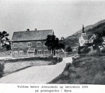Voldens høiere almueskole og annecteret dannelsesanstalt (1861)