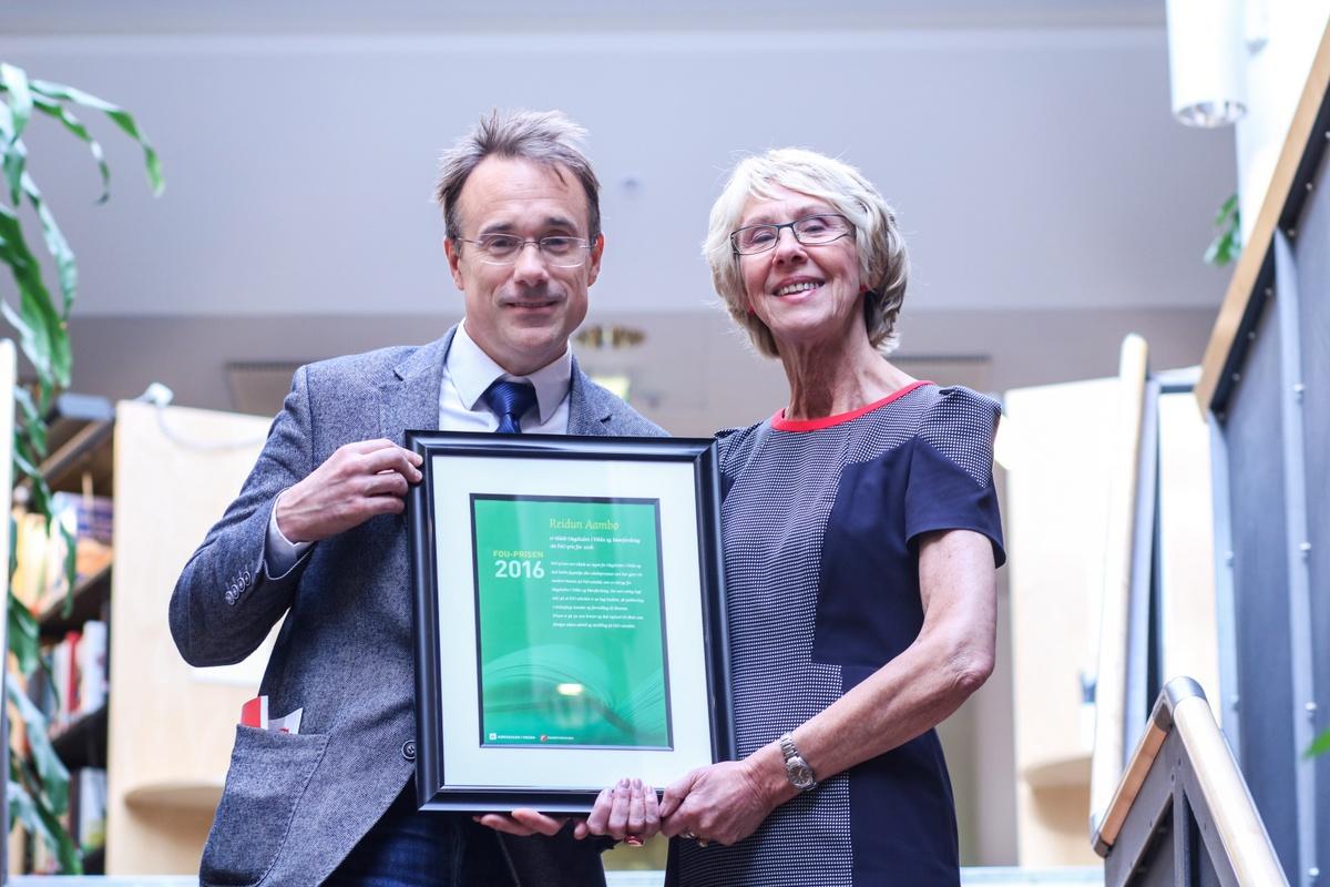 FoU prisen for 2016 har gått til Reidun Aambø. Foto: Tone Solhaug.