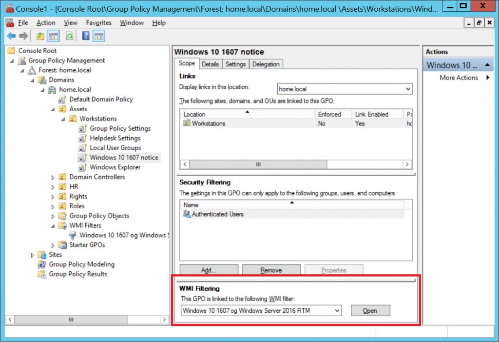 Hvordan benytte et WMI-filter i Group Policy – Naiv IT